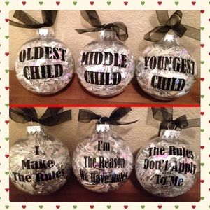 Holiday - NEW Sibling Christmas Ornaments Holiday Xmas Gift